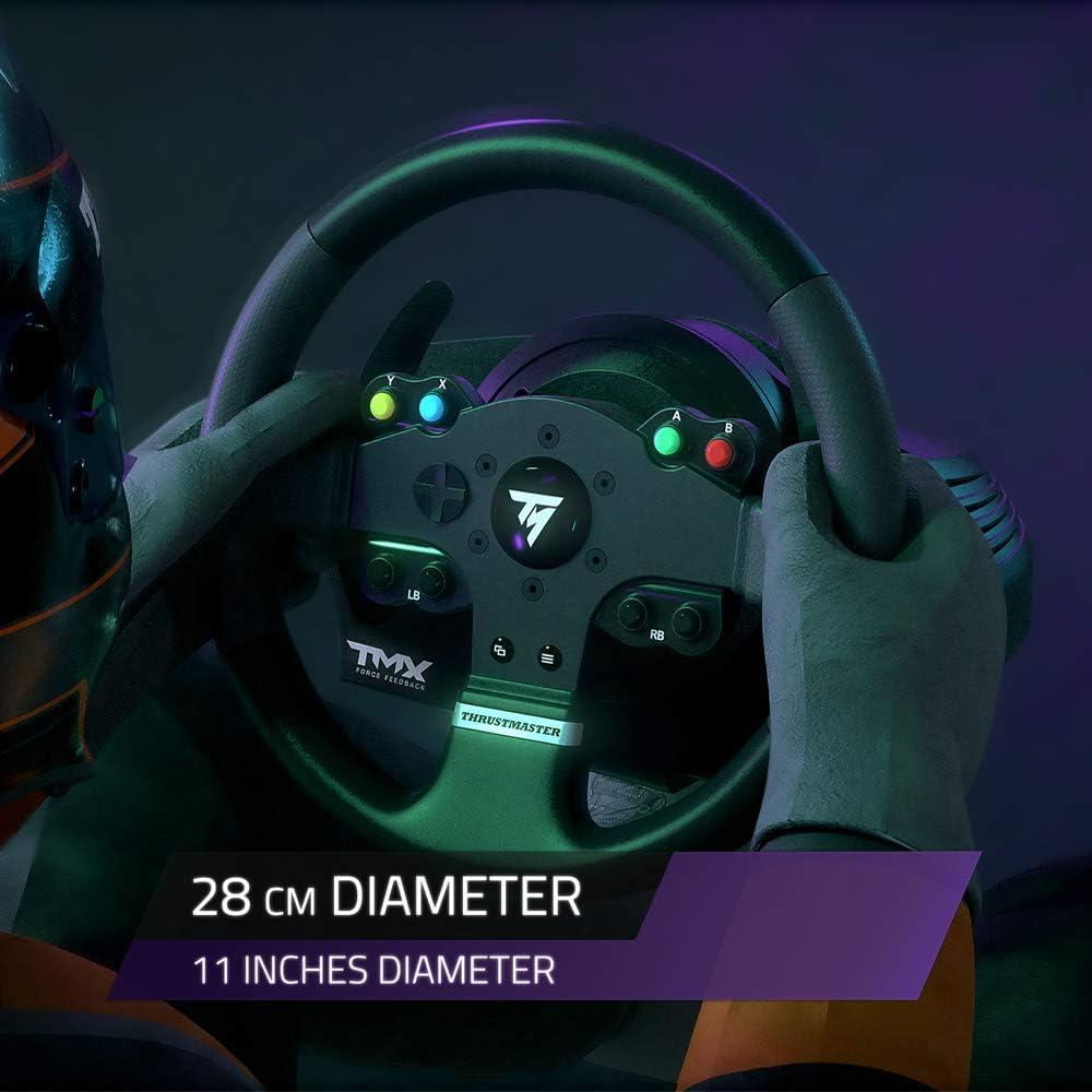 ThrustMaster TMX Pro Volante + Pedales PC, Xbox One Negro - Volante/Mando (Volante + Pedales, PC, Xbox One, Analógico/Digital, D-Pad, Alámbrico, Negro): Amazon.es: Informática