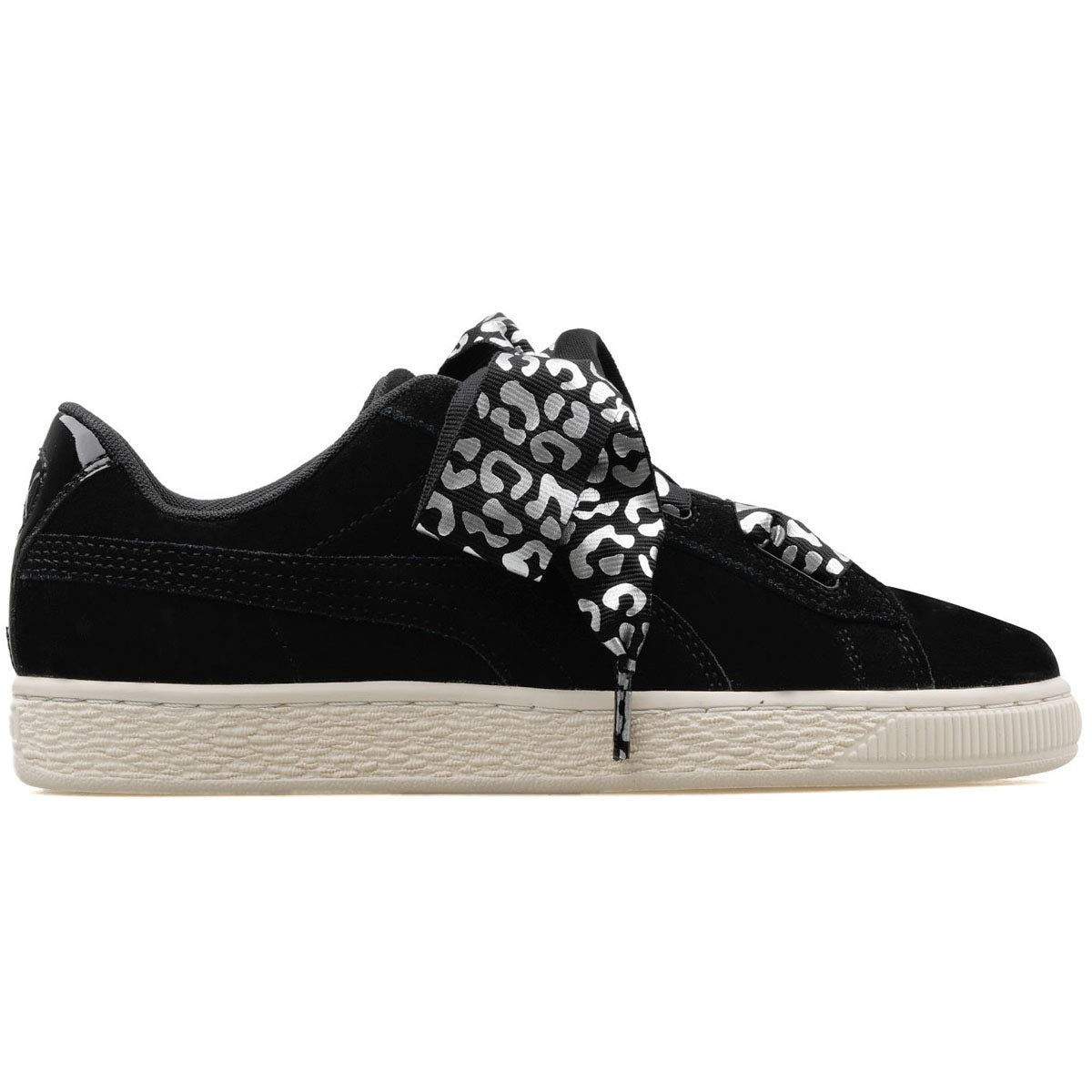 Buy Puma Girl's Suede Heart AthLuxe Jr Black S Silver-White ...