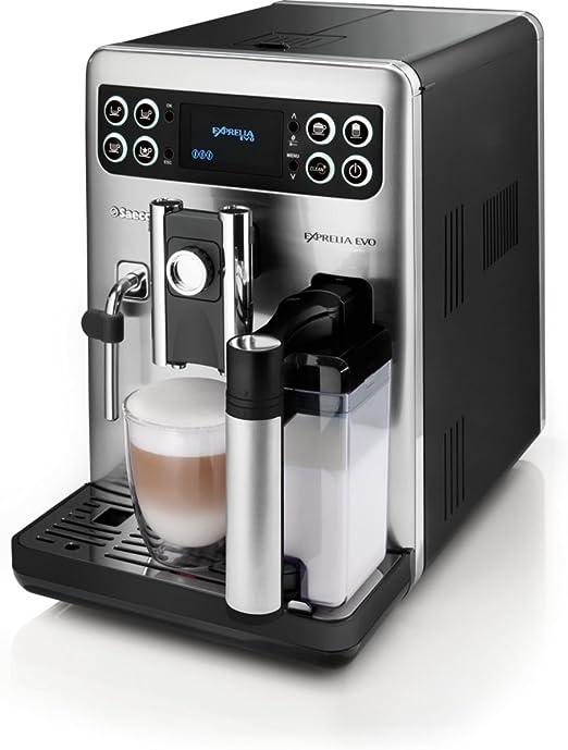 Saeco Exprelia Evo HD8855/47 - Cafetera (Independiente, Máquina espresso, 1,5 L, Molinillo integrado, 1400 W, Negro, Acero inoxidable): Amazon.es: Hogar