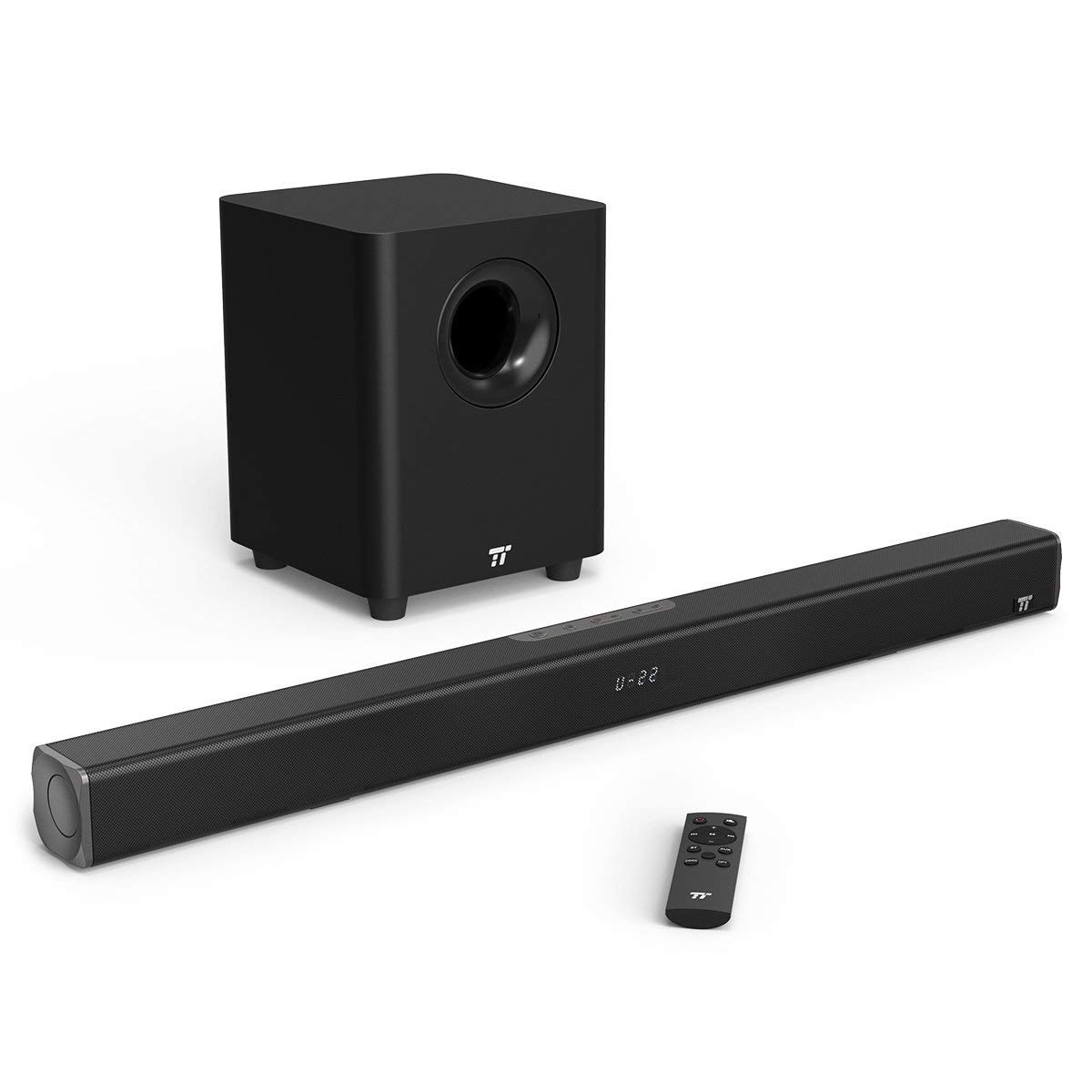 Soundbar, TaoTronics Sound Bars for TV 120W 2.1 Channel Sound bar with Subwoofer Wired & Wireless Bluetooth 4.2 Speakers