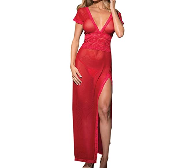 Amazon.com: Hotsexy Vestido largo de noche, vestido de noche ...