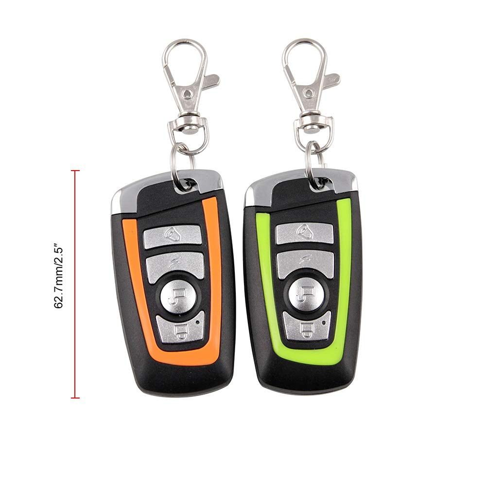 Automotech Anti-Theft Motorcycle Moto Bike Security Alarm System Remote Control Key Shell Motorbike Scooter Motor Alarm With Remote Start