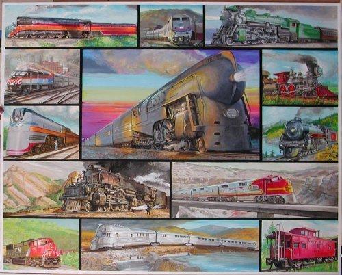White Mountain Puzzles Great Trains