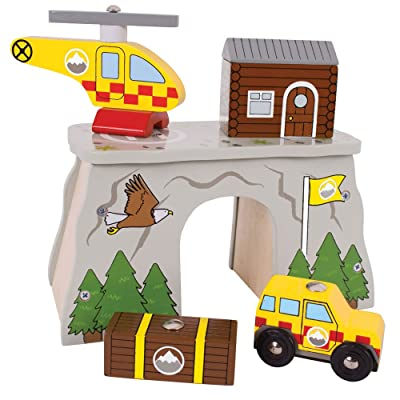 Bigjigs Rail Mountain Rescue for Train Set: Toys & Games
