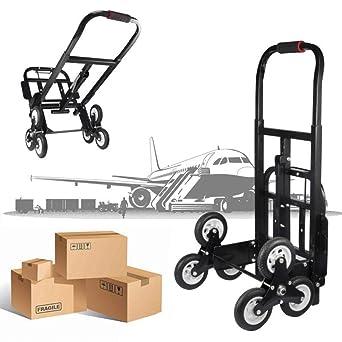 carrito para peldaños, portapachi Plegable Para escaleras con 6 Ruedas, carro para Plegable manual