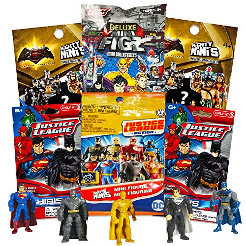 DC Comics Justice League Blind Bags Party Favors Pack - 6 Ju
