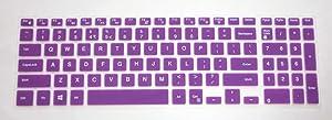 US Layout semi-Purple Keyboard Protector Skin Cover for Dell Inspiron 15-3542 15-3543 15-3551 15-5547 15-5548 17-5758 17-5748 17-5749 i5545 i3543 i3541 i3551 i5548 i5547 i5748 i5749 i5758 Series