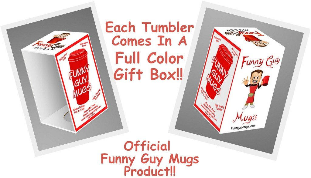 Funny Guy Mugs I Love You More Travel Tumbler With Removable Insulated Silicone Sleeve, White, 16-Ounce by Funny Guy Mugs (Image #3)