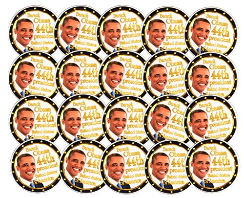 - Pack-20 Obama 44th President Photo Pin-Back Button By Valxart (2.25