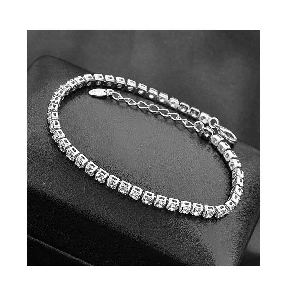 CAIYCAI Stonefans Cz Crystal Tennis Bracelet Zircon Bracelet Bangle Chains Crystal