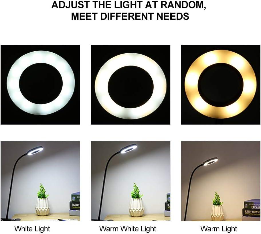 lettura lampada da scrivania per protezione degli occhi USB per casa Lampada a clip a LED lampada da tavolo a LED dimmerabile con collo doca flessibile lavoro