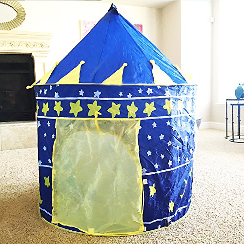 Boy Tent Toy : Boy s blue prince star castle play tent for kids outdoor