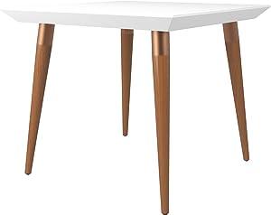 Manhattan Comfort Utopia Mid-Century Square Dining Table, White