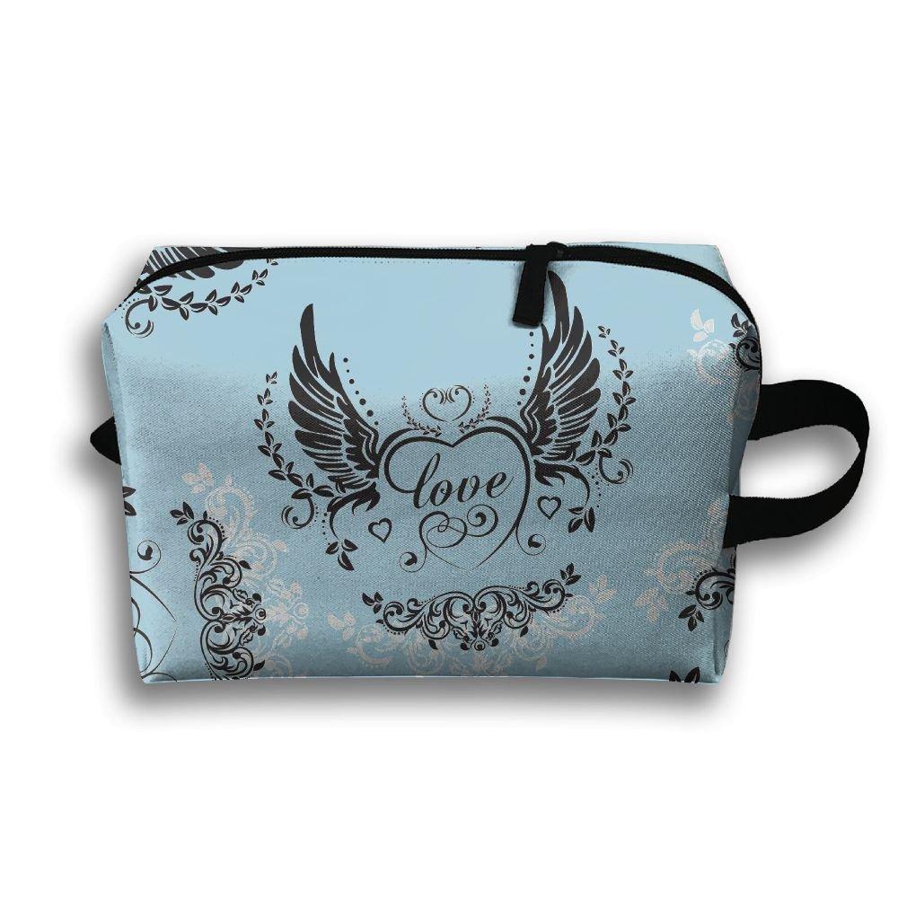 5ae48cfa8f77 well-wreapped Angel Wings Heart Keyhole Women Men Zipper Travel ...