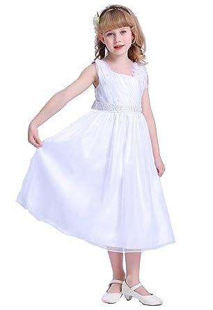 b7695e7b712 Amazon.com  Bow Dream Flower Girl Dress First Communion Dress  Clothing
