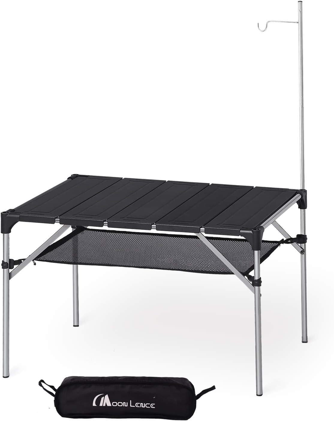 Amazon   Moon Lence キャンプ テーブル アルミ ロールテーブル アウトドア ハイキング BBQ 折りたたみ式 コンパクト 超軽量…   MOON LENCE   テーブル