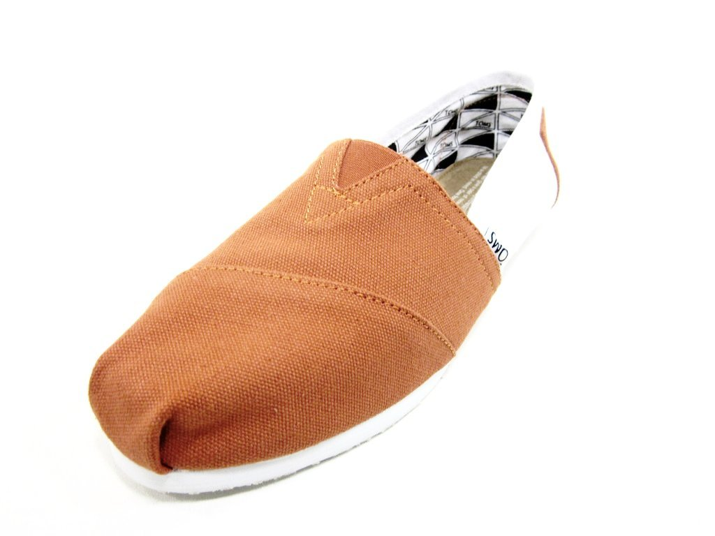 TOMS Men's Classic Canvas Slip-On, Orange and White - 11.5 D(M) US by TOMS
