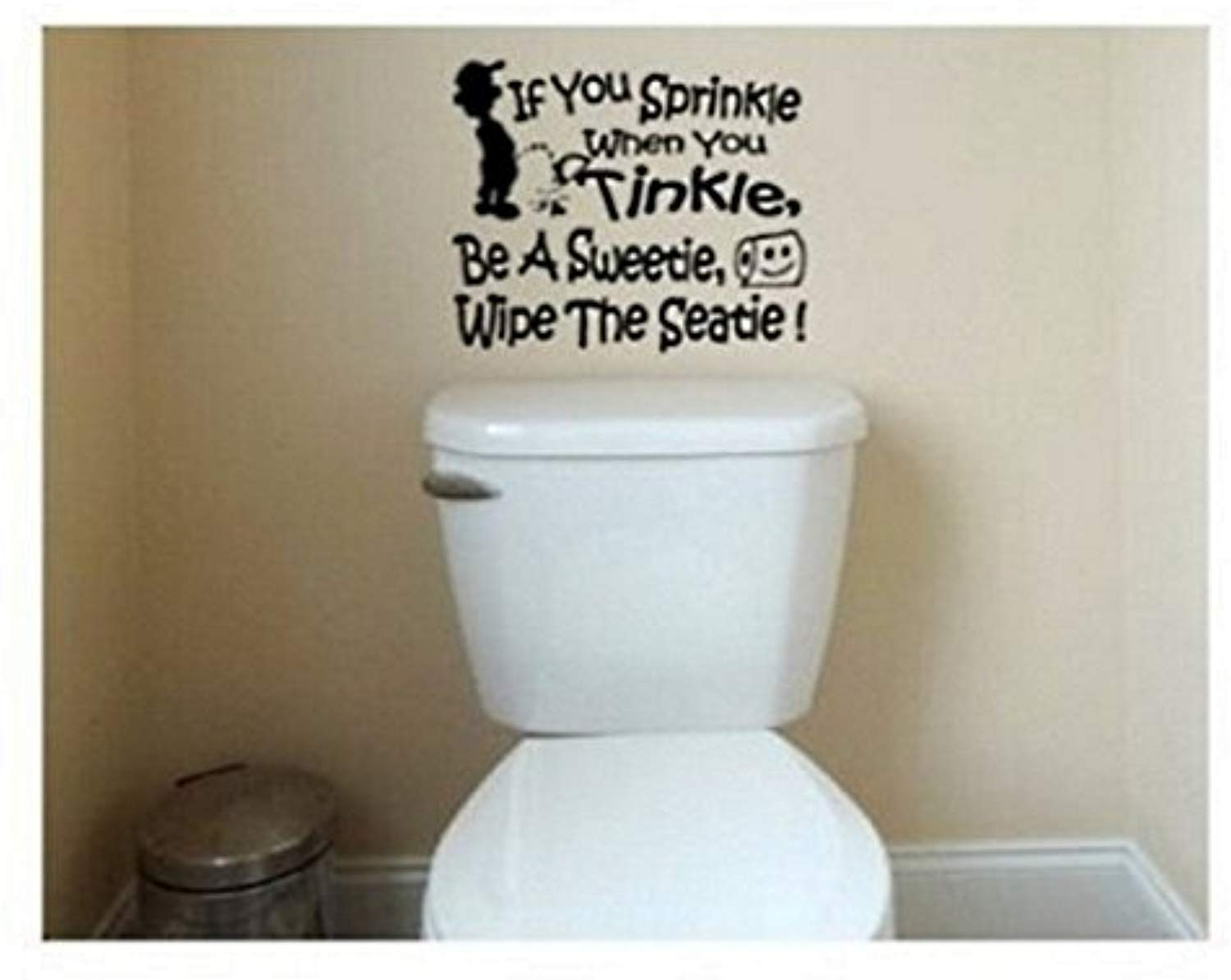 If You Sprinkle Wall Decal removable bathroom quote sticker funny decor mural