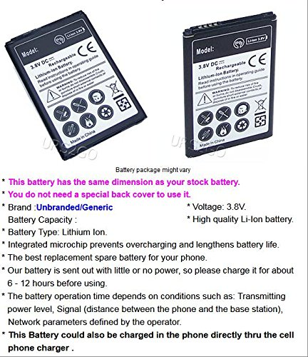 High Capacity 2600mAh Extended Slim Li-ion 3.8V Battery for U.S. Cellular LG K8 US375 Android Phone