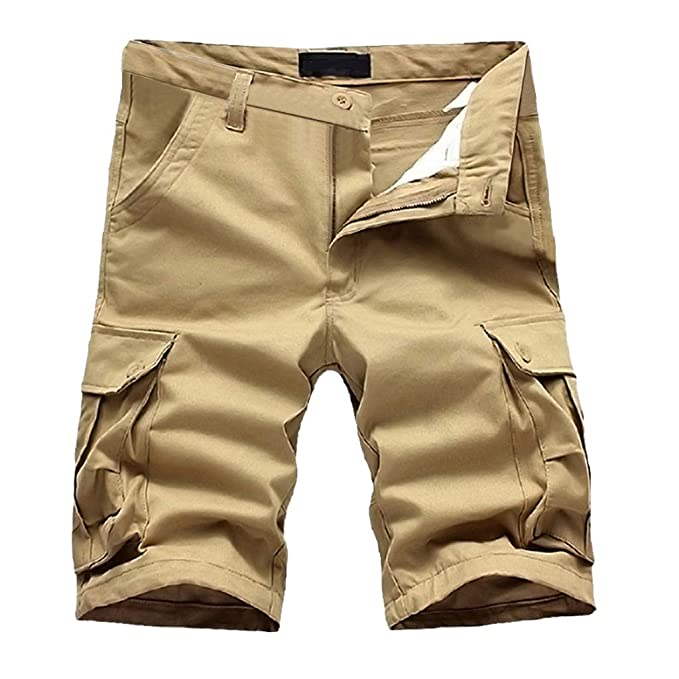 0c1c74885a5 Gusspower Hombres Bermuda Pantalones Cortos Cargo Verano Tallas Grandes  Deporte Shorts Playa Cortos Multi-Bolsillo Vintage Pantalones Cortos de  Trabajo sin ...