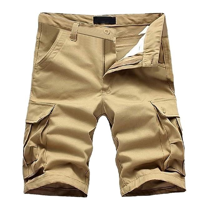 e81a8a574b Cargo Shorts for Mens,Beautyfine Summer Pure Cotton Multi-Pocket Overalls  Shorts Fashion Classic
