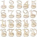 1-20 Numeri per Tavoli in Legno con Base Segnaposto Segnatavolo Decorazione per Ristorante Matrimonio Nozze - AONER