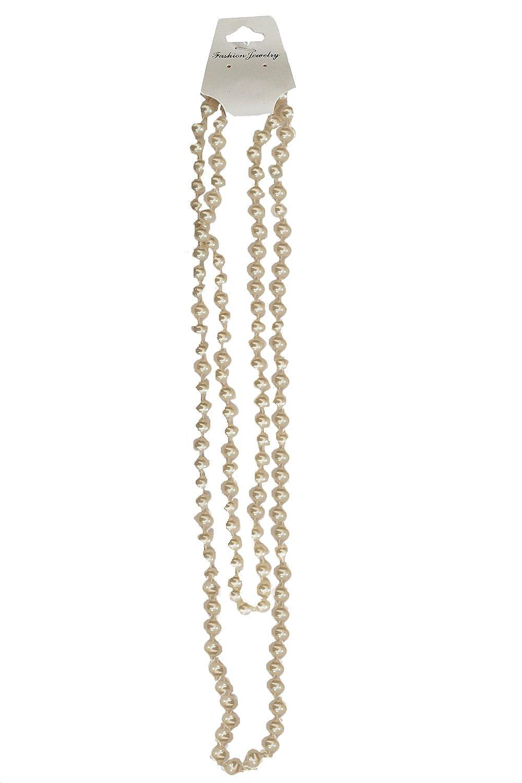 perle Unisexe Collier de perles long N/éon de 1980 Rave perles charleston d/éguisement f/ête