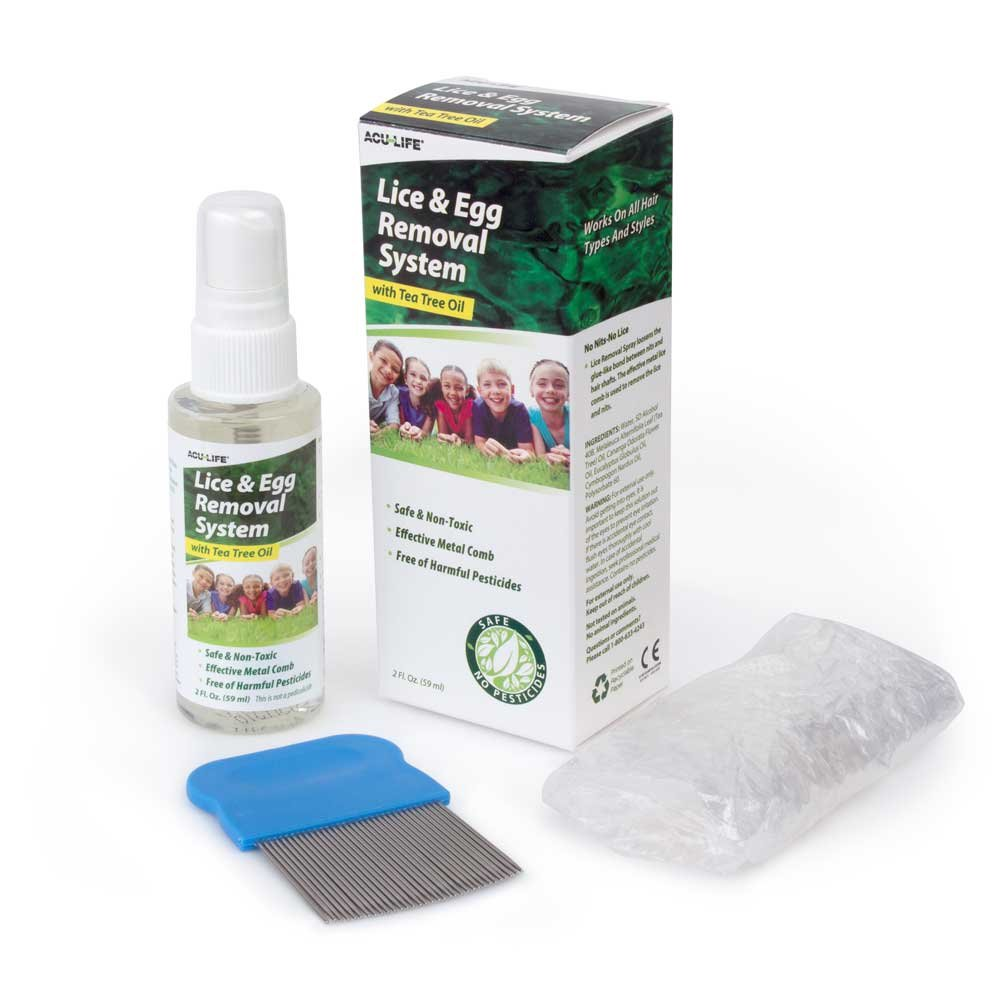 ACU-Life Lice and Egg Removal System with Tea Tree Oil (Lice Removal kit)