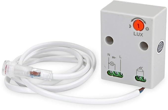 Wasserdichte IP65 Dämmerungssensor Dämmerungsschalter Sensor für Außenbereich