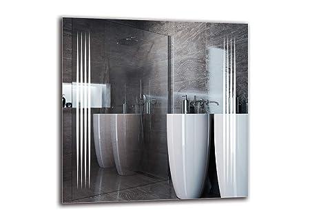 Miroir LED Premium - Taille du Miroir 70x70 cm - Miroir de Salle de Bain -  Miroir Mural - Miroir Lumineux - Miroir avec éclairage - Prêt à ...