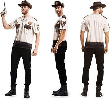 Disfraz Camiseta de Sheriff Original de Carnaval para Hombre M de ...