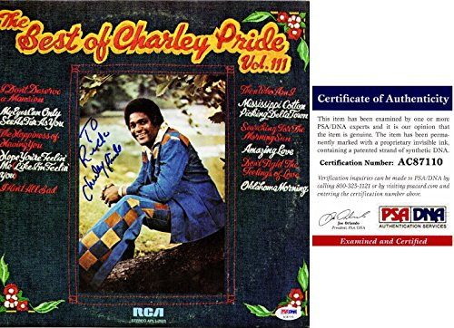 Charley Pride Signed - Autographed The Best Of Charley Pride Volume III LP Record Album Cover Personalized To Rick with PSA/DNA Certificate of Authenticity (COA)