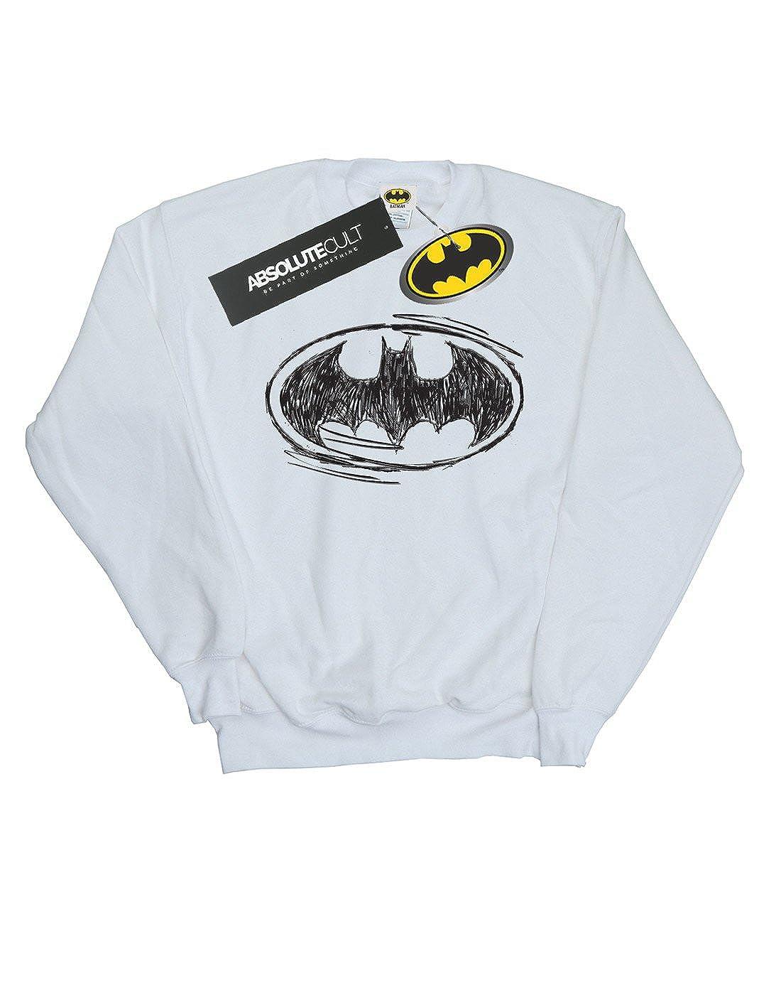 DC Comics Jungen Batman Sketch Logo Sweatshirt