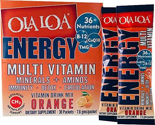 (Ola Loa Energy Multivitamin Supplement, Orange, 30 Packets)