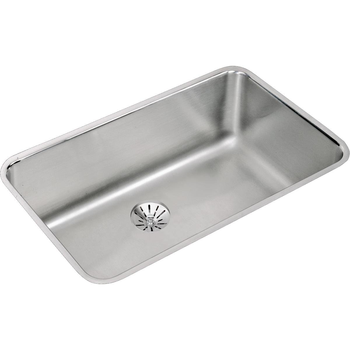 Elkay ELUH281610PD Lustertone Classic Single Bowl Undermount Stainless Steel Sink with Perfect Drain