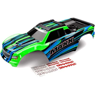 Traxxas 8911G Body, Maxx, Green (Painted)/ Decal Sheet: Toys & Games