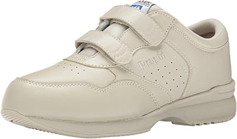 Propet Men's LifeWalker Strap Shoe Sport White 11 M (D) & Oxy Cleaner Bundle