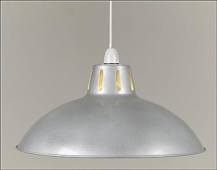 17 silver alluminium retro large metal coolie glossy lampshade 17quot silver alluminium retro large metal coolie glossy lampshade ceiling pendant modern light fitting mozeypictures Images