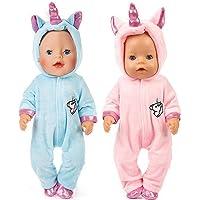 WENTS Disfraz de Unicornio Bebe Baby Born Onesie