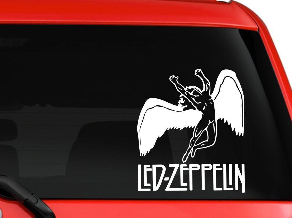 """Led Zeppelin Album Cover Rock Music Vinyl Decal 6/"""" Black"""