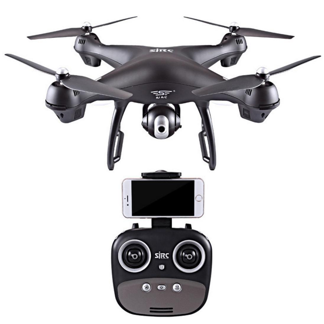 YJYdada S70W 2.4GHz GPS FPV Drone Quadcopter With 1080P HD Camera Wifi Headless Mode (Black)