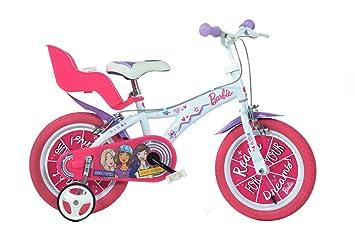 ded37e9999c9d Dino Bikes- Vélo Fille sous Licence Barbie 16 Pouces-5 à 8 Ans, 166 ...