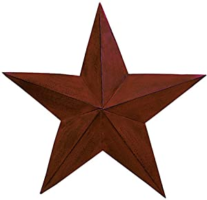 The Country House Collection 18 Inch Burgundy Barn Star