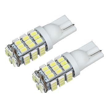 SODIAL(R) 2 x Bombilla Luz T10 W5W 42 SMD LED Blanco Forma Cuna para Coche: Amazon.es: Coche y moto