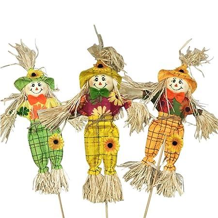Danspeed 3pcs Scarecrows For Gardens Birds Pigeon Deterrent