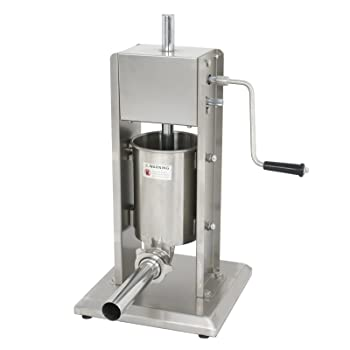 ZENY 3L 7lbs 2 Speed Sausage Stuffer Commercial Stainless Steel Vertical Sausage Filler