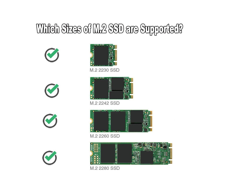 Valuegist SATA NGFF/M.2 SSD Enclosure, Adaptador de Lector de SSD ...