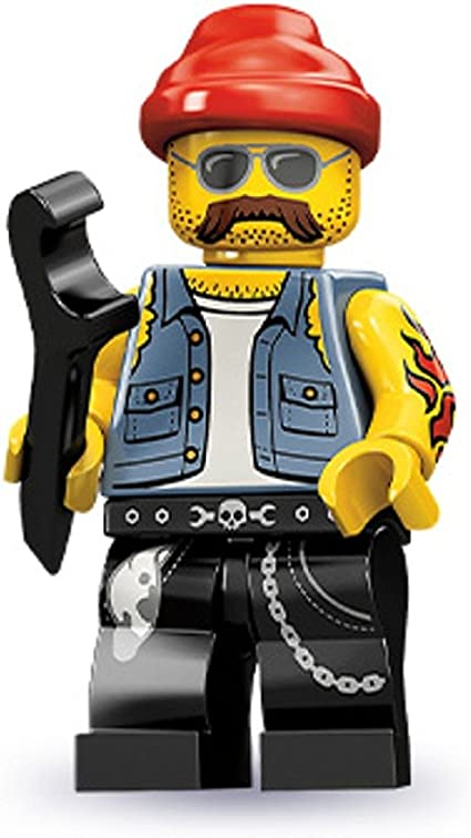 genuine lego minifigures the motorcycle machanic  from series 10