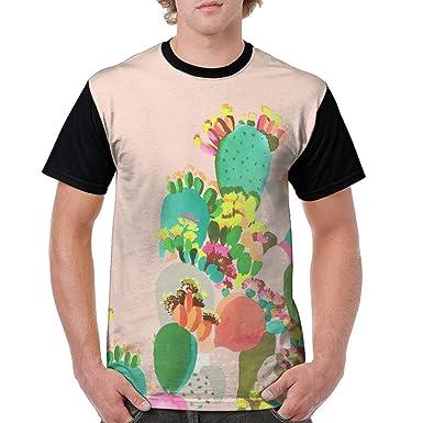 Address Verb Men S Raglan T Shirt Cactus Draw Summer Short Sleeves