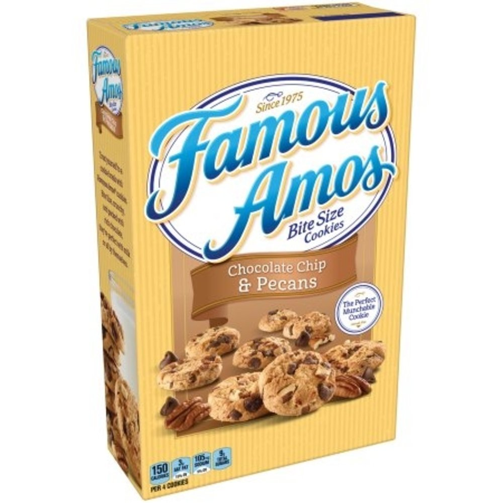 Famous Amos Chocolate Chip and Pecans Bite Size Cookies, 12.4 Ounce (Pack of 6)